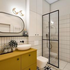 Fantastic 33 Adorable Minimalist Small Bathroom Design Ideas Bathroom design has been an essential factor in modern homes. It can be attributed to the importance of a bathroom in anyone's home. Not only is it essential, b. Modern Bathroom Decor, Modern Farmhouse Decor, Bathroom Design Small, Simple Bathroom, Bathroom Interior Design, Home Decor Kitchen, White Bathroom, Kmart Bathroom, Paris Bathroom