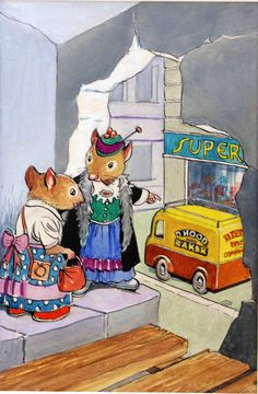 Katie Country Mouse Goes to London: The Street (Original) art by Town Mouse and Country Mouse (Mendoza)