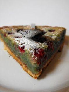 tarte pistache & framboise : pistachio & raspberry pie