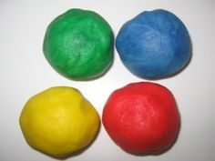 No Cook Homemade Playdough:  Made this with my 4 year old, then colored it with a bunch of toddlers.  So easy and fun!