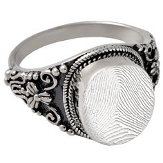 Fingerprint Cremation Jewelry: Sterling Silver Round Cremation Ring This Site is actually really interesting... Definitely keeping this site in mind.
