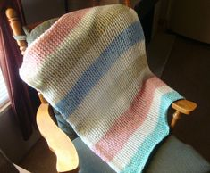 Loom knitted baby blanket