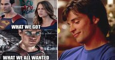 I was so dissapointed when I found out Tom Welling wasn't gonna be in Man of Steel. In my opinion, Tom Welling is a waaay better Superman than Henry Caville. I'm not a big DC fan, but I loved Smallville as a kid. Funny Tv Series, Smallville Quotes, Tom Welling Smallville, Henry Caville, Funny Tom, Step Up Revolution, Beau Mirchoff, Chad Michael Murray, Dc Characters