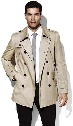 Beige Trenchcoat by Vince Camuto. Buy for $195 from Vince Camuto