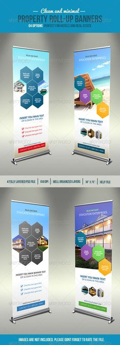 Buy Hexa Property Roll-Up Banner by DesignDistrict on GraphicRiver. This property banner can be used for hotels, rental properties or real estate firms Whats in the file 4 psd file Help. Signage Design, Banner Design, Standee Design, Roll Up Design, Pop Up Banner, Insert Text, Powerpoint Themes, Beer Opener, Digital Signage