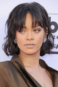 There's little that Rihanna cant pull off and the fringe is firmly on the list of things she can.