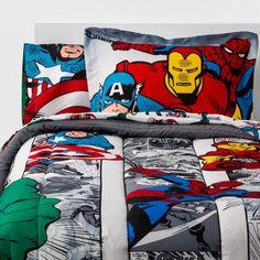 Marvel Bedding, Marvel Bedroom, Avengers Room, Marvel Avengers Comics, Superhero Room, Kids Bedding Sets, Bed In A Bag, Twin Comforter, Fun Comics