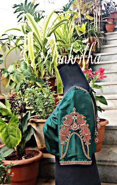 Blouse sleeve embroidery.. vanki design.... jewellery work.....