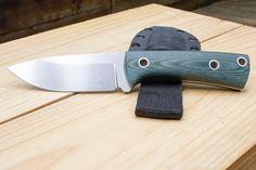 Handmade Knife and Sheath Drop Point Hunter by RSelfDesigns