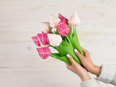 Tutorial fai da te: Come fare un bouquet di stoffa via DaWanda.com