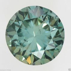 MOISSANITE SI1 CLARITY JEWELRY GREENISH COLOR GEMSTONE 0.55 CT LOOSE ROUND SHAPE