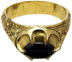 William Wytlesey's ring Object: Ring Place of origin: Canterbury, United Kingdom (said to have been, worn) Date: ca. 1362-1374 (made) Artist/Maker: Unknown (production) Materials and Techniques: Gold, chased, engraved; sapphire, drilled Credit Line: Given by Dame Joan Evans