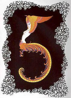 Erté's Numerals Series: FIVE