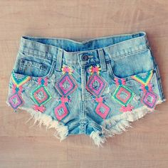 #fashion #shorts #denim #print