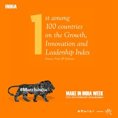 #MakeInIndiaWeek  'Make in India': FDI is also 'First Develop India' says PM Modi  India 1st among 100 countires on the #Growth #Innovation & #LeadershipIndex  Join the campaign on 13th-18th feb Mumbai, India which is celebrating by all Indians #MakeInIndiaWeek  Like, Share & Join  #AntimTotla