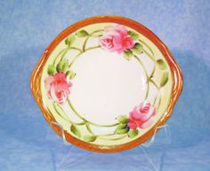 Antique Nippon Hand Painted Rose EOh by RichardsRarityRealm