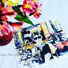 Breakfast at Tiffany's. Limited edition print from Original Watercolor by Lana Moes