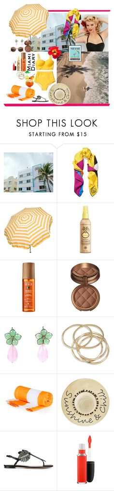 """Untitled #559"" by bgarnett92 ❤ liked on Polyvore featuring South Beach, Loewe, Parasol, Forever 21, Alterna, Laura Geller, ABS by Allen Schwartz, Betsey Johnson, Valentino and MAC Cosmetics"