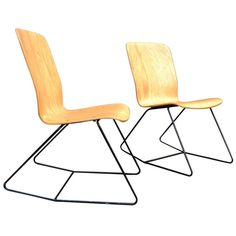 Pair of Rocking Bent Wood Chairs