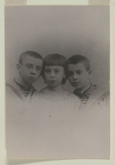 The Nijinsky Children (Vaslav, Bronislava and Stanislav), ca. 1897 / Bronislava Nijinska Collection / Music Division / Library of Congress