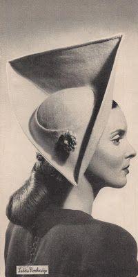 Circa 1945 high tri-corn hat from Laddie Northridge.