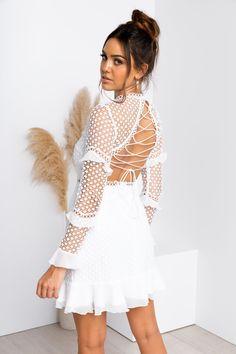 Parson Dress - White Lace Dress, Strapless Dress, White Dress, Semi Formal Dresses, Nice Dresses, Sisters The Label, Womens Fashion Stores, Online Fashion Boutique, Lace Back