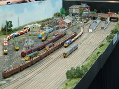 For some people, collecting toy trains isn't just another hobby or interest; The concept of collecting toy trains has been N Scale Model Trains, Model Train Layouts, Scale Models, N Scale Layouts, Train Miniature, Standard Gauge, Rolling Stock, Airports, Beautiful Models