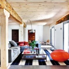 An old house in the verge of ruin in the countryside of Segovia, Spain has been transformed into a modern rustic haven.