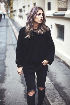 Black layering  grunge / black / edgy outfit by Masha Sedgwick