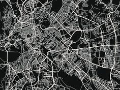 Rome Map Art Print Rome Print Rome Art Print di MrCityPrinting