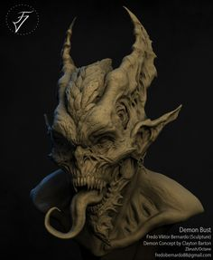 Demon Bust, Fredo Viktor on ArtStation at https://www.artstation.com/artwork/3wkOA
