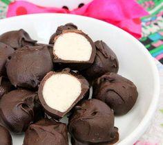 No Bake Vanilla Cake Batter Chocolate Truffles | KoKo's Corner