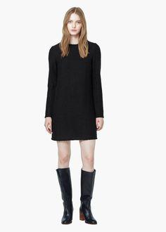 Bawełniana sukienka z teksturą | MANGO