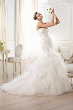 Bridal Gowns Pronovias Olari Bridal Gown Image 1 Bridesmaid Dresses 2014 d866e808d2ac