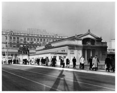 Walking to work from Union Station, 1965, Chicago.