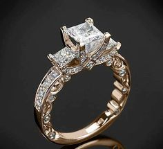 Gold Based Diamond Ring For Ladies