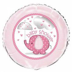 Folieballon Baby Shower olifant meisje
