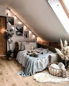 Are you on a tight budget? Here are a few ways to redecorate your home easily without costing you a fortune! Attic Bedroom Designs, Room Design Bedroom, Room Ideas Bedroom, Budget Bedroom, Cute Bedroom Decor, Bedroom Decor For Teen Girls, Attic Bedroom Ideas For Teens, Attic Bedroom Decor, Decor Room