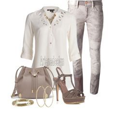 """Isabel Marant Skinny Jeans"" by arjanadesign on Polyvore"