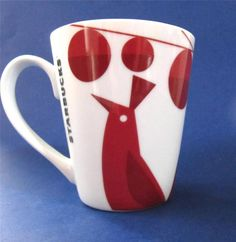 "Starbucks Christmas Red Birds & Ornaments Coffee Mug Cup, holds 10 oz., 4.25"" tall  $15.50 #Starbucks2012 at JustLuvTreasures.com"