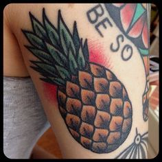 pineapple flash tattoo - Google Search