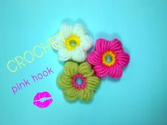 ✿ ✿✿Цветы крючком для начинающих 2//Crochet flowers - YouTube Crochet Videos, Crochet Flowers, Baby Kids, Little Girls, Crochet Earrings, Daisy, Crochet Hats, Pink, Blouses