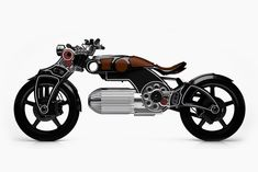 curtiss has unveiled its latest electric motorcycle - the pistol-like 'hades' with a hammer-like seat and a bullet-shaped battery pack. Hades, Glenn Curtiss, Porsche 924s, Harley Davidson, Motorcycle Companies, Motorcycle Design, Motorcycle News, Baboon, Luxury Suv