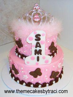 Baby Girl First Birthday Party   Posh 1st Birthday Princess - Baby Girl 1st Birthday Themes » Image ...