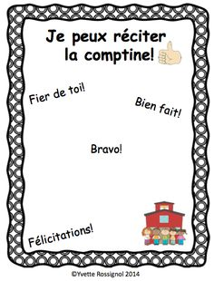 """Taken from """"Six amis sur le tapis"""", Une comptine dans mon coeur... Great literacy activities"""" in these ressources that are perfect for grade 1 French Immersion or grade 1 Francophone classes."""