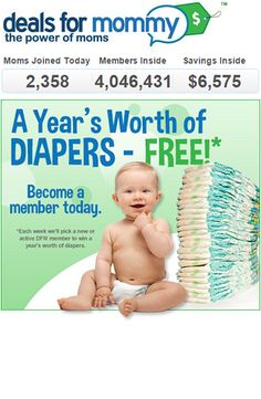 Win Free Diapers for a Year - Weekly Winners! | Closet of Free Samples | Get FREE Samples by Mail | Free Stuff