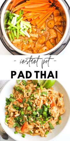 Best Instant Pot Recipe, Instant Recipes, Instant Pot Dinner Recipes, One Pot Recipes, Pad Thai Recipes, Recipes Dinner, Instant Pot Chinese Recipes, Thai Curry Recipes, Ninja Recipes