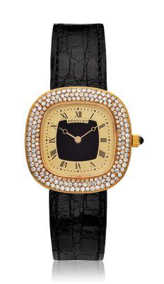 BREGUET, LADIES' 18K AND DIAMOND SQUARE WRISTWATCH Rolex Daytona, Patek Philippe, Audemars Piguet, Watches Online, Vintage Watches, Chronograph, Diamond, Lady, Accessories