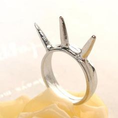 Studded Ring  Silver - One Size