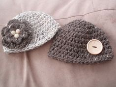 For my Murr!My babies aregetting these!  Twins' Hats Newborn and Up Boy/Girl Boy/Boy by chloebmccrary, $25.00